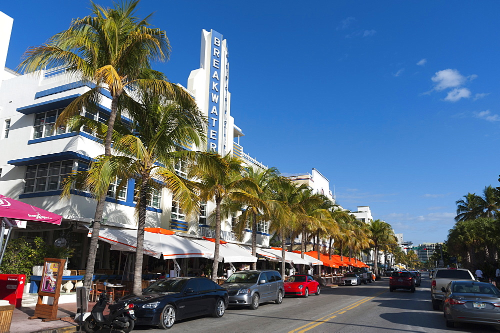 Breakwater Hotel, Ocean Drive, South Beach, Miami Beach, Florida, United States of America, North America