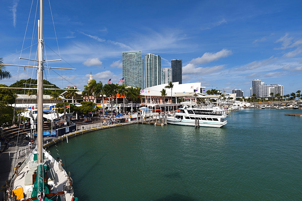 Bayside Marina, Downtown, Miami, Florida, United States of America, North America