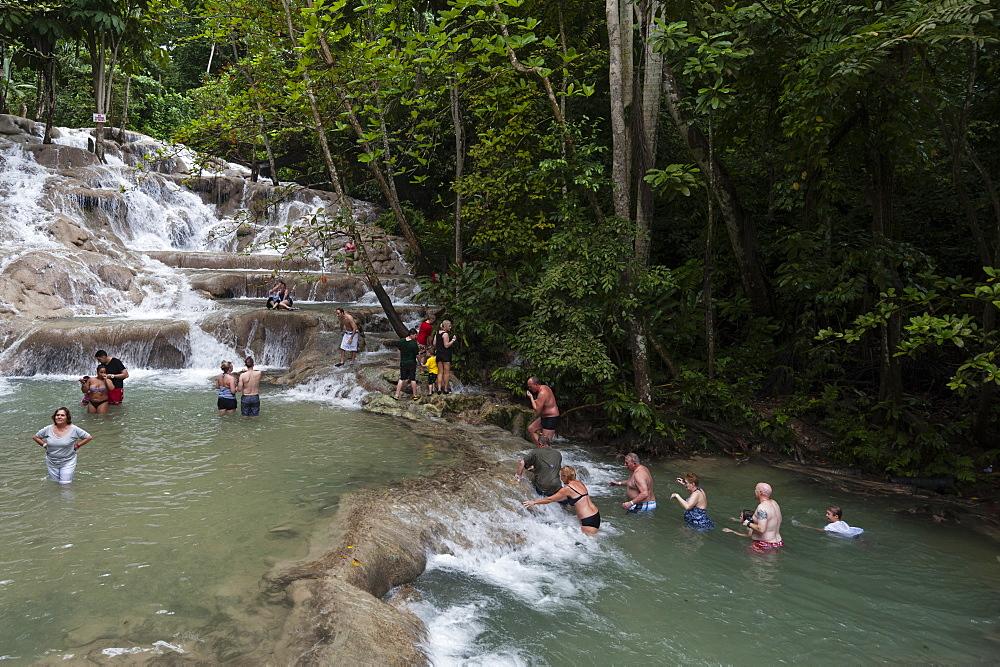 Dunn's River Falls, Ocho Rios, Jamaica, West Indies, Caribbean, Central America
