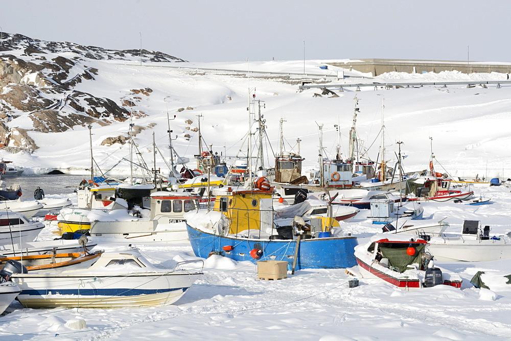 Ilulissat harbour, Greenland, Denmark, Polar Regions