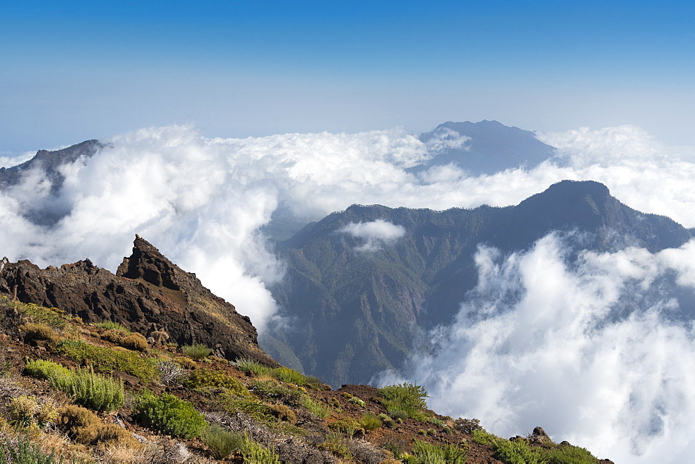 Clouds in the Caldera de Taburiente, La Palma Island, Canary Islands, Spain. - 741-5191