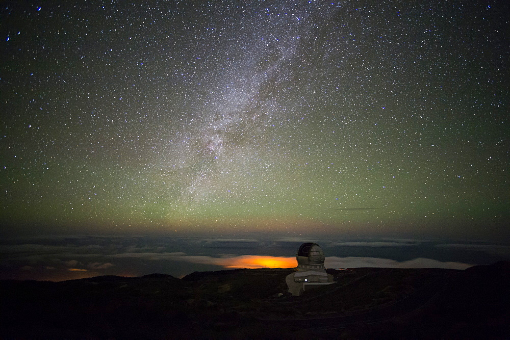 Spain's Gran Telescopio Canarias, Roque de los Muchachos Observatory, La Palma Island, Canary Islands, Spain, Europe