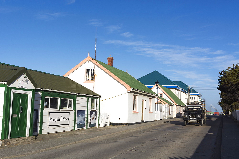 Houses in Stanley, the capital of Falkland Islands, South America
