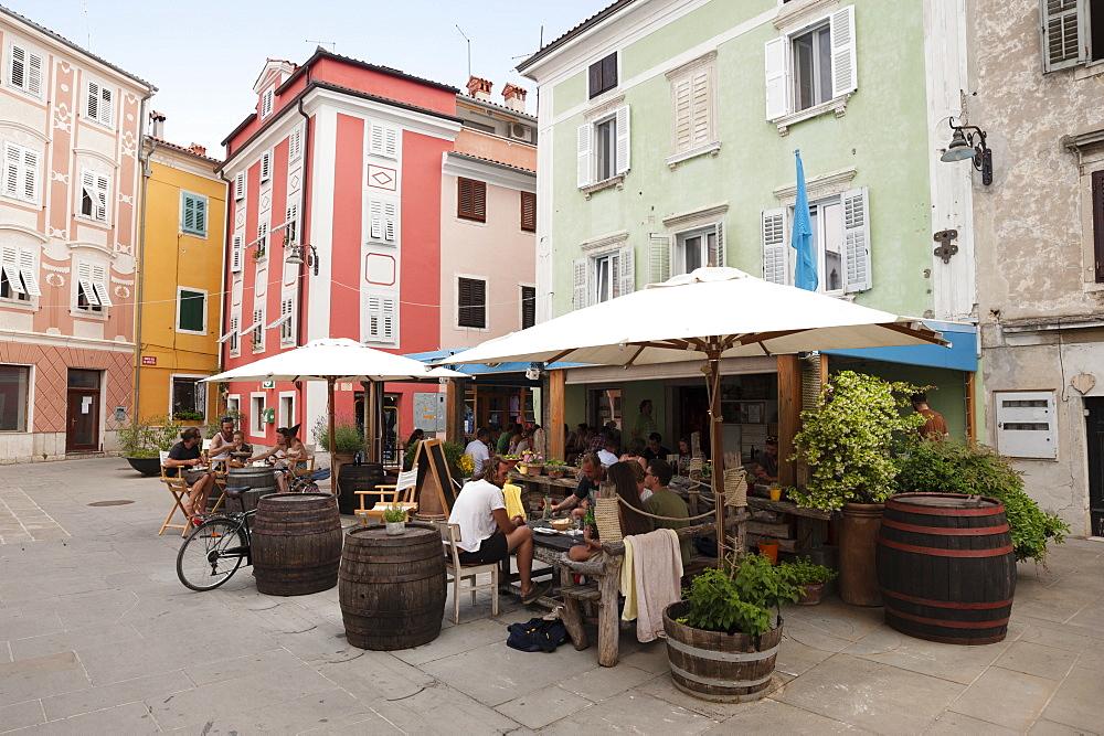 Giuseppe Verdi Street, Isola, Slovenia, Europe