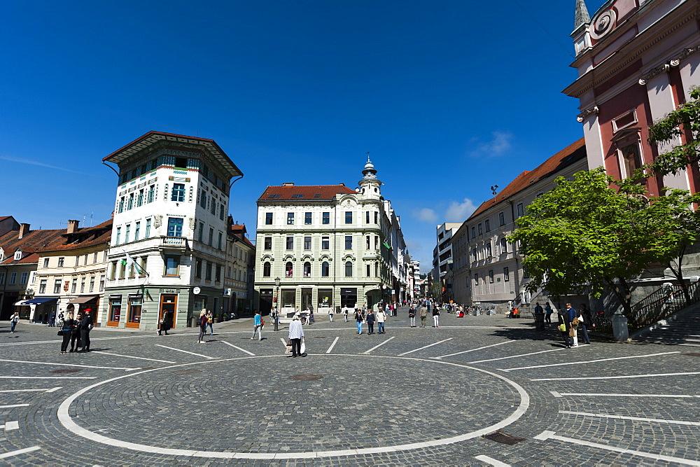 Preseren Square, Ljubljana, Slovenia, Europe - 741-5457