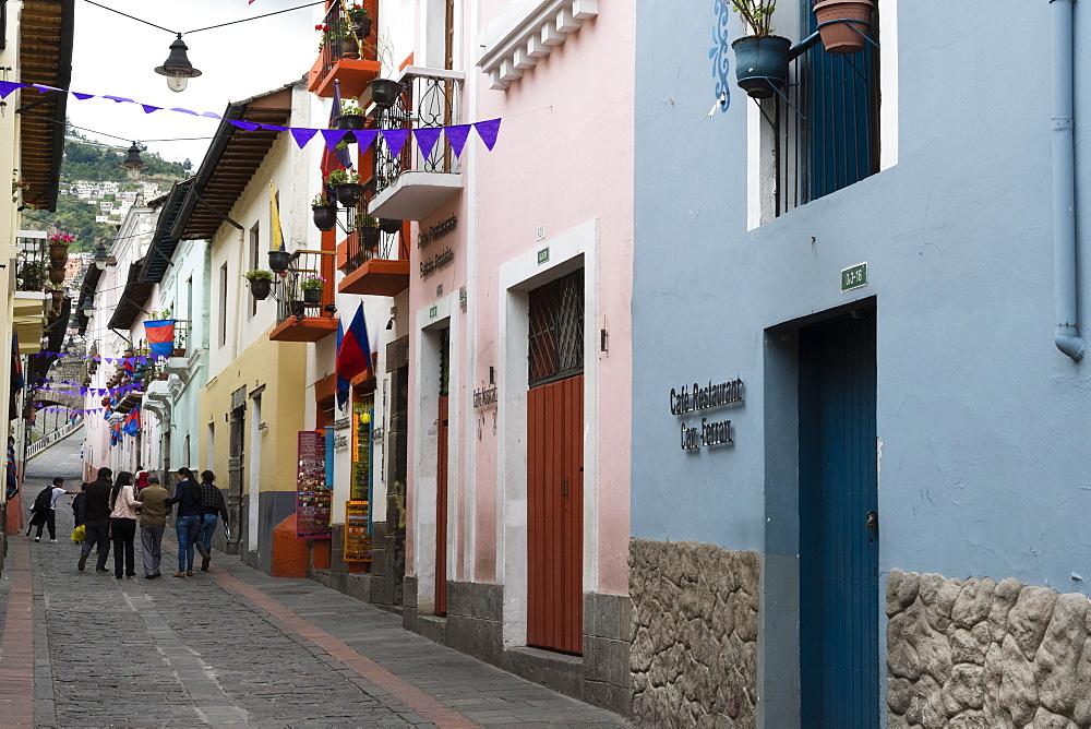 La Ronda street, Quito, Ecuador, South America - 741-5641