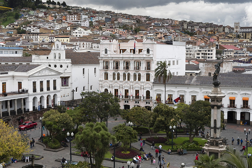 View of Plaza de la Independencia, Quito, Ecuador, South America