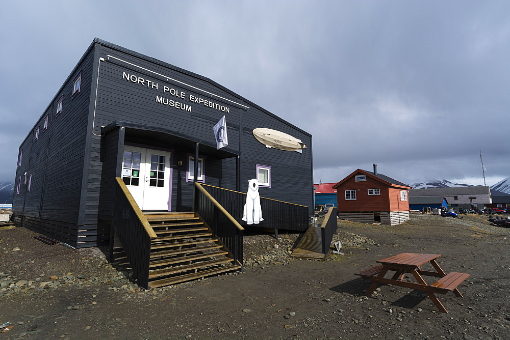 The North Pole Museum, Longyearbyen, Spitsbergen, Svalbard Islands, Arctic, Norway, Europe