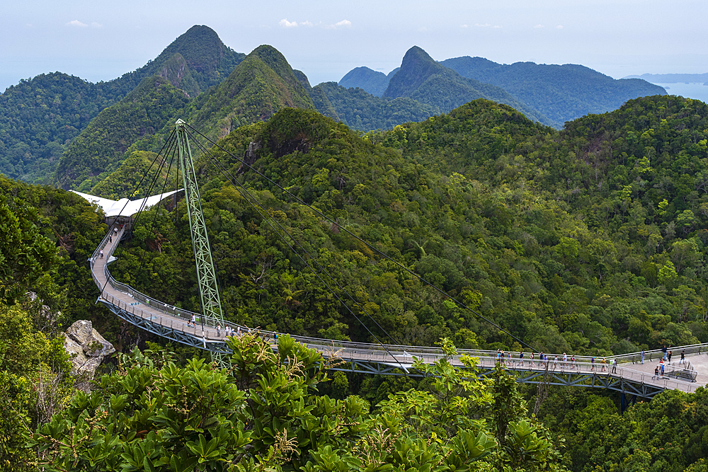 A view of Langkawi sky bridge, Malaysia, Southeast Asia, Asia