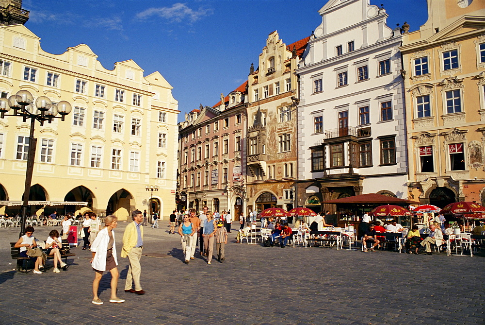 Staromestske Namesti (Old Town Square), Prague, Czech Republic, Europe