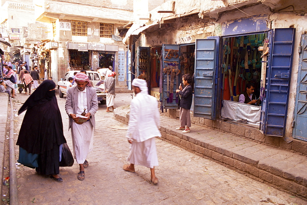 Bazaar, Old Town, Sana'a, Republic of Yemen, Middle East