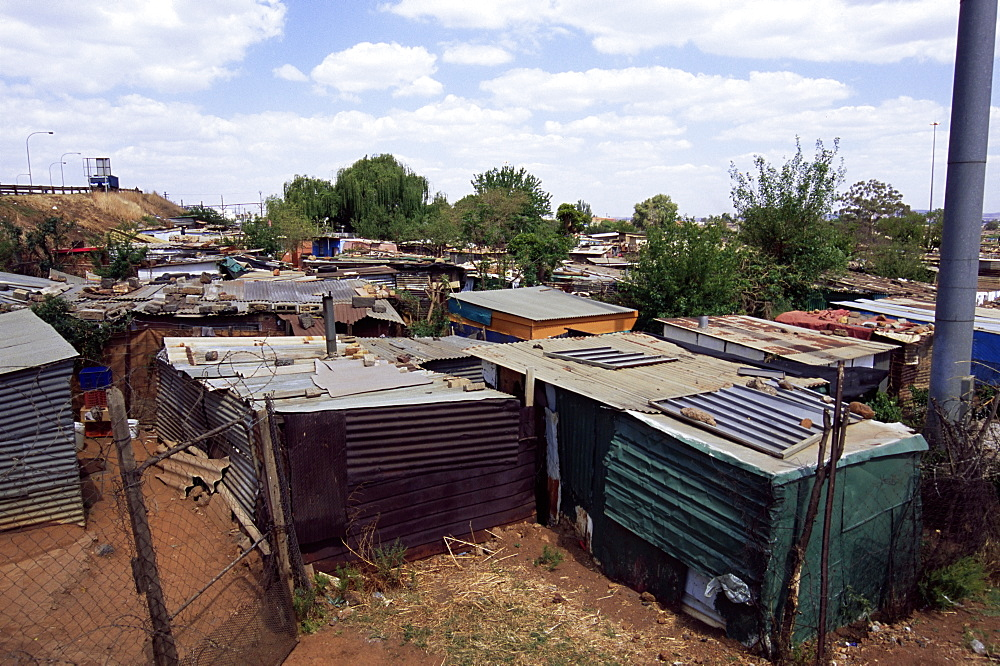 Shacks, Soweto, Johannesburg, South Africa, Africa