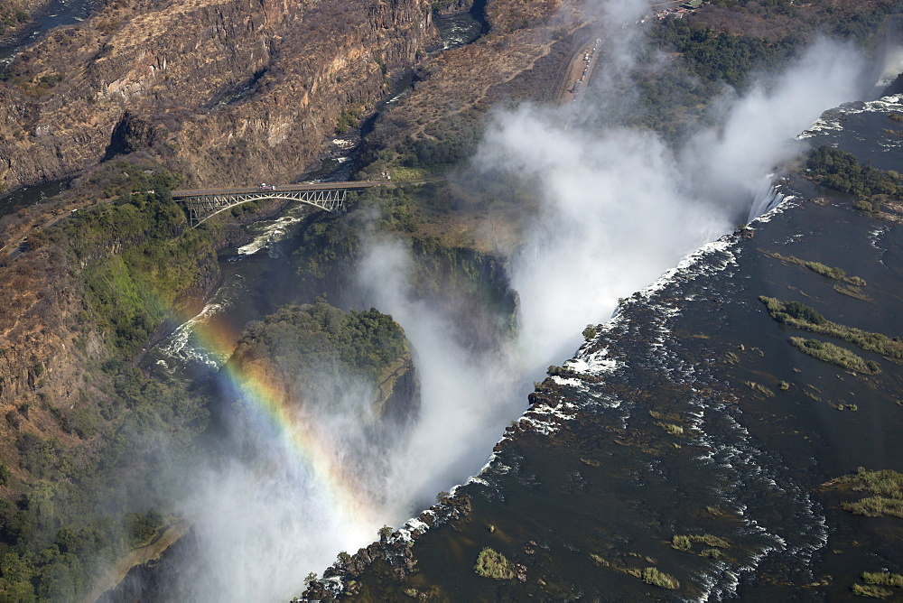 Victoria Falls, aerial view, UNESCO World Heritage Site, Zimbabwe, Africa - 743-1496
