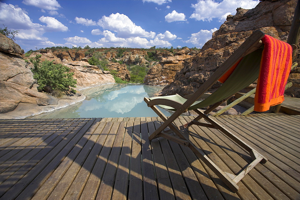 Restcamp pool in Mapungubwe National Park, Limpopo Province, South Africa, Africa