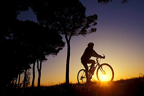 Sunset, Biking around Italy