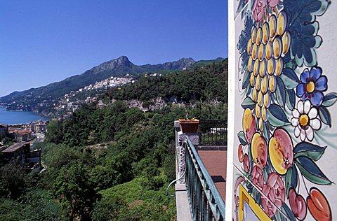 Landscape from Vietri, Campania, Italy