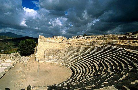 Greek amphitheatre, Segesta, Sicily, Italy