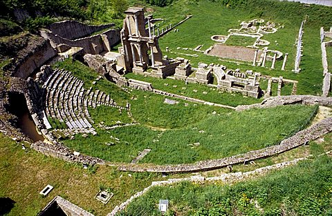 Roman theatre, Volterra, Val di Cecina, Toscana, Italy