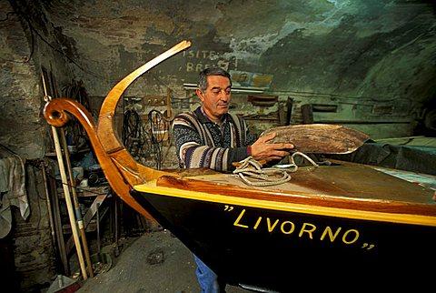 Boat maker, Livorno, Tuscany, Italy