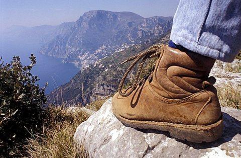 Excursionist, Amalfi coast, Campania, Italy