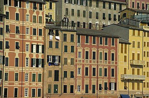 Cityview of Camogli, Liguria, Italy