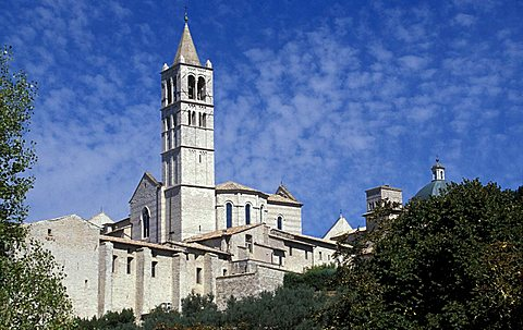 Basilica di S.Chiara, Assisi, Umbria, Italy