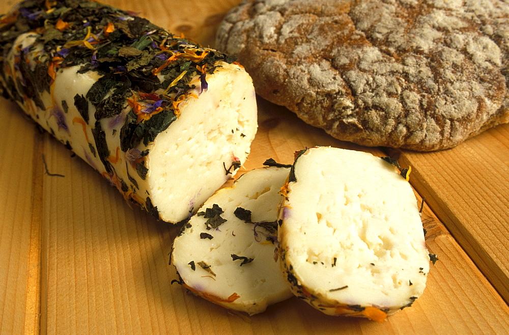 Goat's milk cheese, De Gust dairy, Rio di Pusteria, Trentino Alto Adige, Italy.