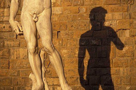David, Piazza della Signoria, Florence, Tuscany, Italy