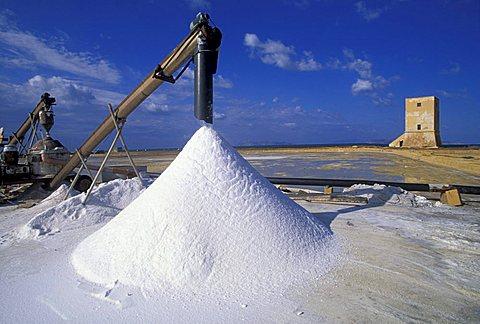 Saltworks, Nubia, Sicily, Italy