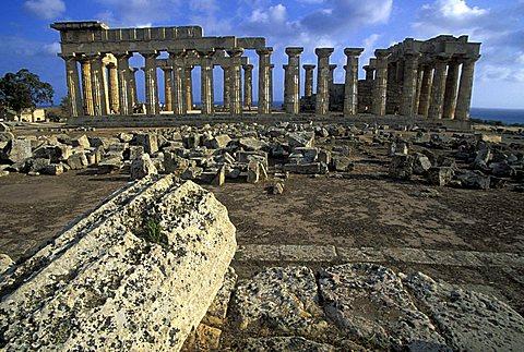 E temple, Selinunte, Sicily, Italy