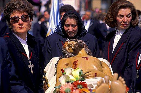 The Good Friday procession, Trapani, Sicily, Italy