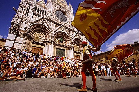 Parade before the Palio, Siena, Tuscany, Italy