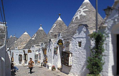 A street of the city, Alberobello, Puglia, Italy