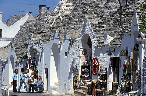 The typical houses called trulli, Alberobello, Puglia, Italy