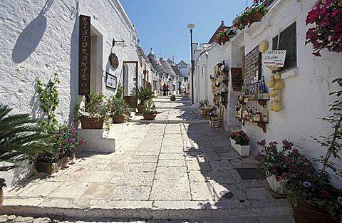 Street of the city, Alberobello, Puglia, Italy