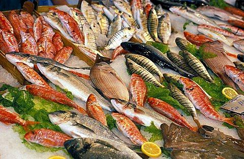 Market in Capo block, Palermo, Sicily, Italy