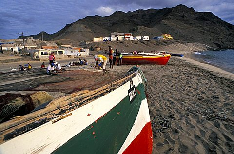 Saint Peter beach and village, Cape Verde Islands, Africa