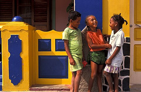 Boys and girls, Cape Verde Islands, Africa