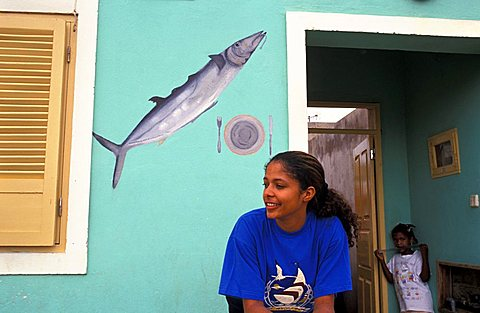 Girl, Cape Verde Islands, Africa