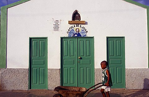 Saint Mary village, Cape Verde Islands, Africa