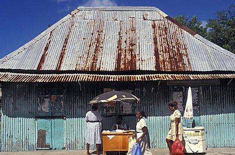 Foreshortening, Vittoria, Mahé island, Seychelles, Indian Ocean, Africa