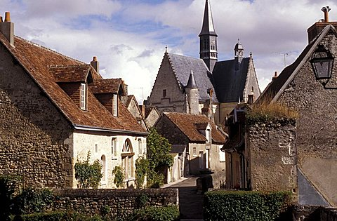 The Medieval town, Montresor, Pays de la Loire, France, Europe