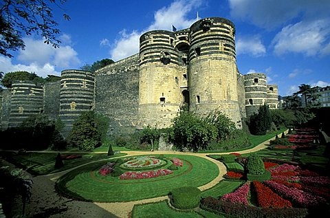 Medieval Fortress, Angers, Pays de la Loire, France, Europe