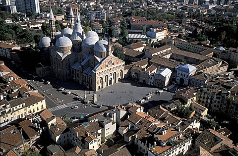 Aerial view of the basilica of Saint Anthony of Padua., Padua, Veneto, Italy