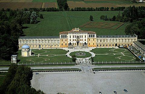 Villa Contarini aerial view, Piazzola sul Brenta, Veneto, Italy