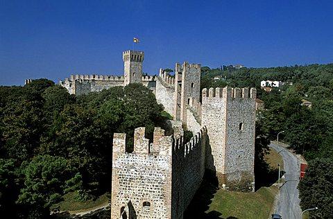 Historic city walls,  Este, Veneto, Italy
