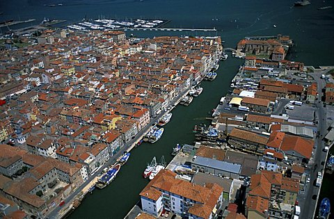 Aerial view of Chioggia,  Veneto, Italy