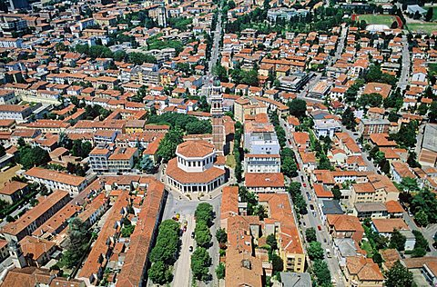 """Aerial view of the """" La Rotonda"""", Rovigo,  Veneto, Italy"""