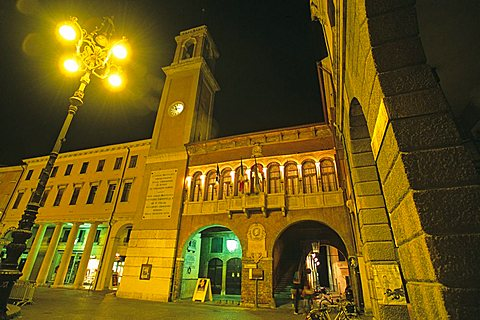 The Civic Tower in Vittorio Emanuele II square, Rovigo, Veneto, Italy