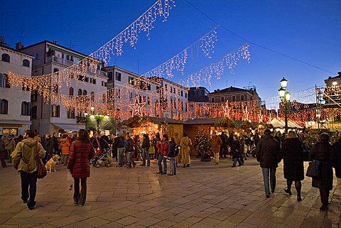 Christmas market, Venice, Veneto, Italy